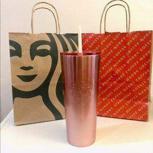 Starbucks Rose Gold Gradient Glitter Tumbler